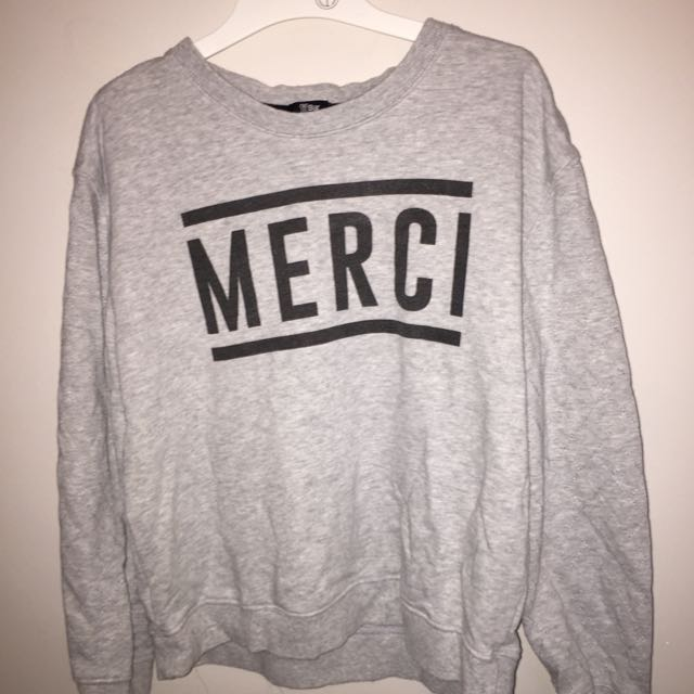 "TBar Grey ""mercy"" Sweatshirt"