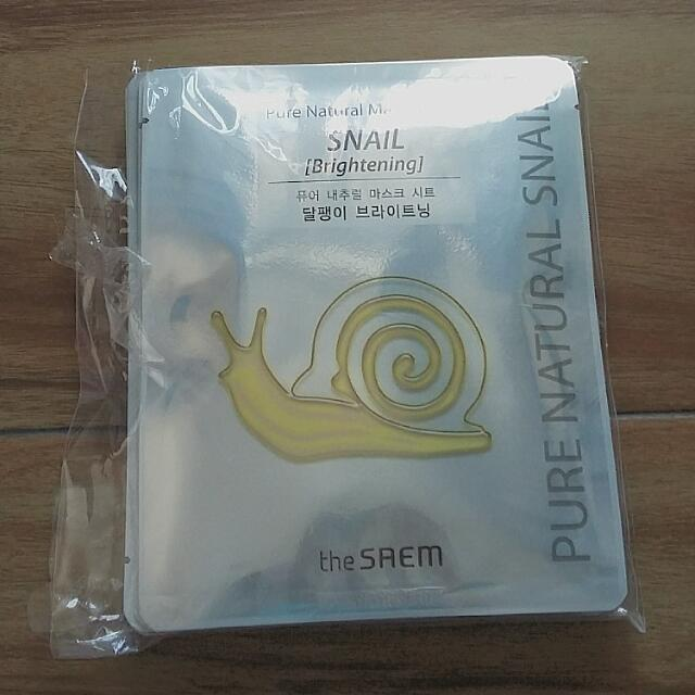 The Saem Pure Natural Sheet Mask (Snail)