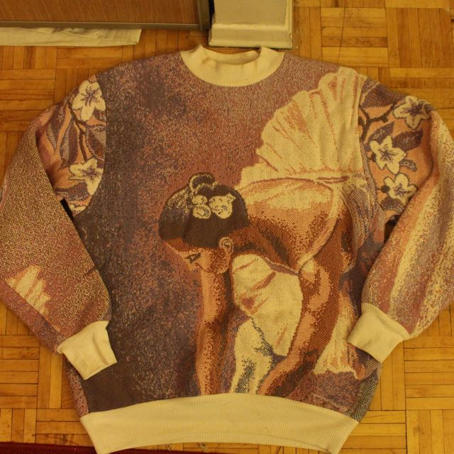 Vintage 100% Cotton Heavy Design Sweater