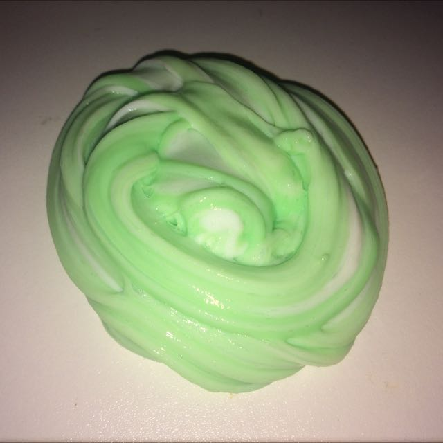 White And Green Slime