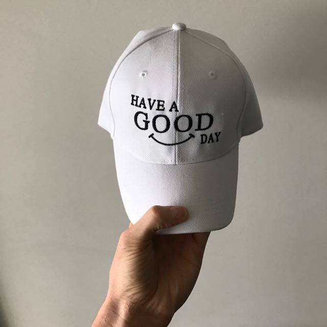 WHITE HAVE A GOOD DAY DAD CAP