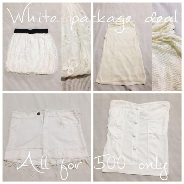 White Skirt, Top
