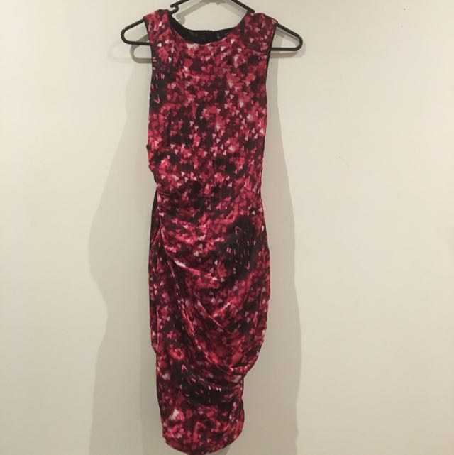 XS Ginger & Smart Formal Dress Red And Pink