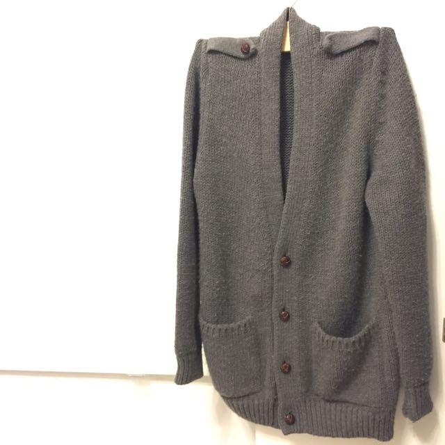 Zara長版針織毛料外套