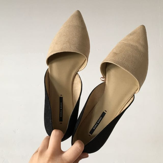 Zara Pointed Toe Flats Size 38
