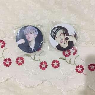 Baekhyun And G-dragon Badges