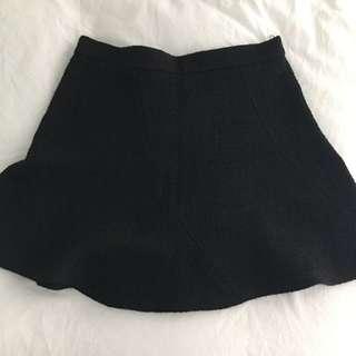Black A-Line Mini Skirt From Zara
