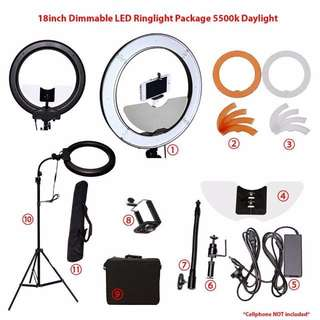 "18"" Dimmable LED Light Ultimate Package(Photography/Makeup Tool) FREE SHIPPING"