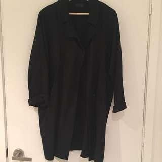 Topshop Black Cocoon Coat