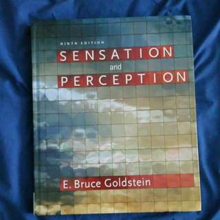Sensation And Perception Ninth Edition Bruce E. Goldstein