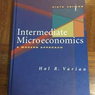 Intermediate Microeconomics by Hal Varian
