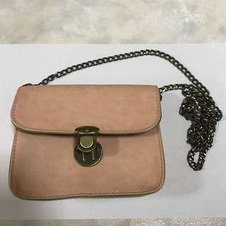Peach Mini Sling Bag