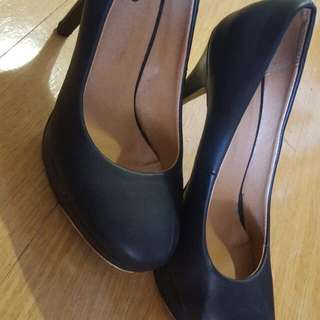 Black Heels with Gold Detail for sale!!