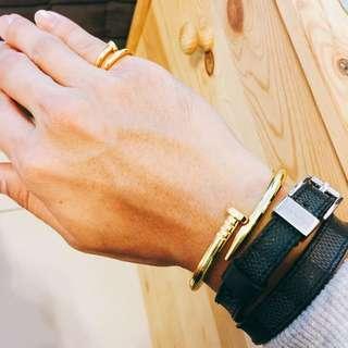 釘子手環手鍊+釘子戒指