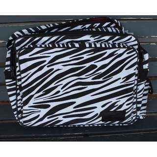 *NEW* Zebra Print Laptop Carrying Bag with Red Interior