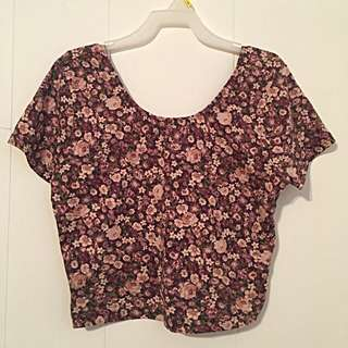 Garage Floral Crop Top (large)