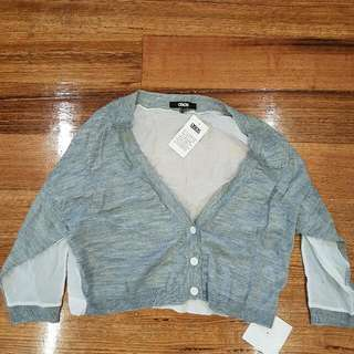 Cute ASOS Crop Cardigan Grey And White Brand New