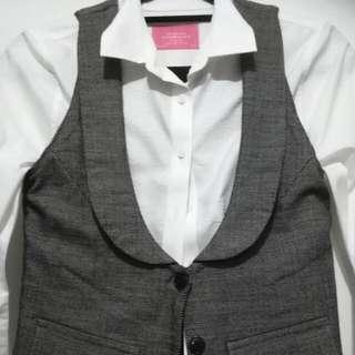 Grey Cotton Vest