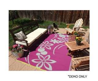 Flower Rug Dark Pink & Cream 150x240cm