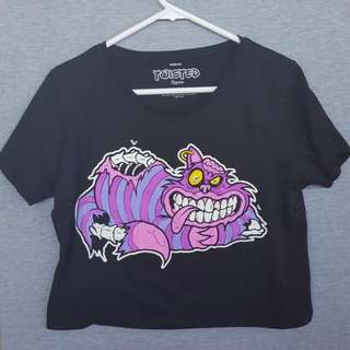 Twisted Apparel Cheshire Cat Crop Top