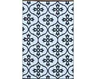 Moroccan Tile Reversable Rug Black & White 120x180cm