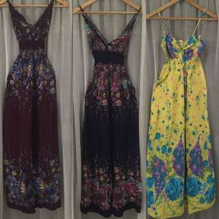 Take All 3 Maxi Summer Dresses
