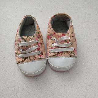 Baby Shoes - Mothercare Floral Sneakers