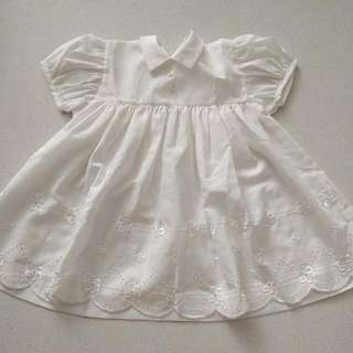 Baby Girl's White Dress