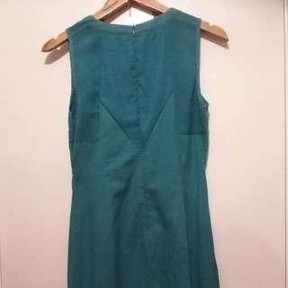 Blue Green Draw String Dress
