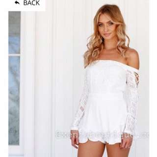 White Charmed Life Playsuit