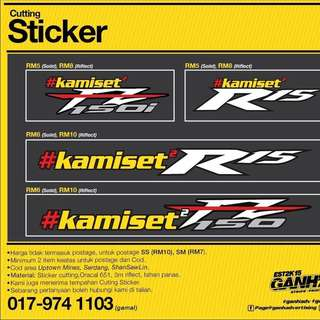 Sticker Kami Set2 Fz, R15