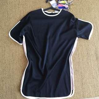 MSGM Black Tshirt Dress
