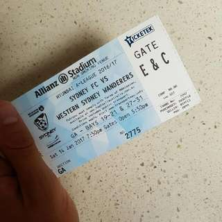Sydney Derby GA Ticket