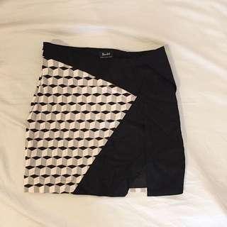 Bardot Wrap Mini Skirt - Size 8