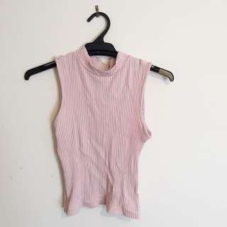 Forever New Pink Knit Crop - Size 6