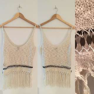 Lee Knitted Tassel Singlet Top