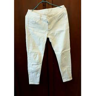 直筒顯瘦白褲