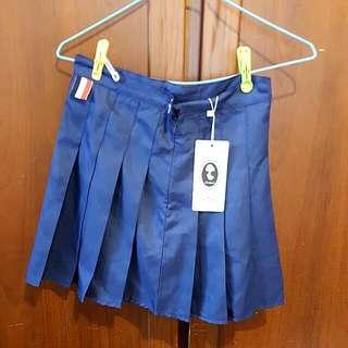 海軍藍百摺裙