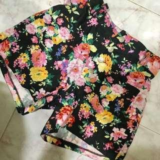 Floral High Waist Pants