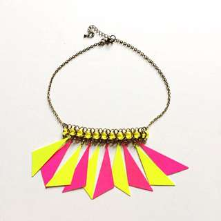 Neon Colored Statement Necklace