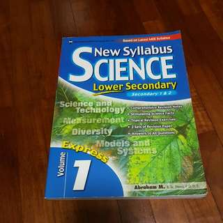 New Syllabus Science For Lower Secondary Volume 1 Express