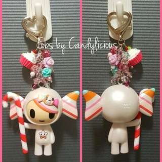 Sweet Caramella Fob with Beads