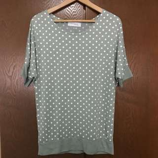 Green Pokka Dot Shirt