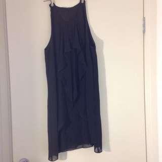 Size 8 Very Very Black Ruffle Dress
