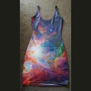 Black Milk (XS) Rainbow Galaxy Body con Dress