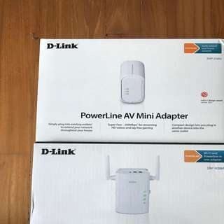 D-Link PowerLine AV Mini Adaptor + PowerLine AV Wireless N Extender