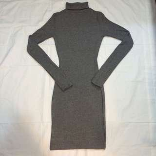 Sirens Ribbed Grey Sweater Dress