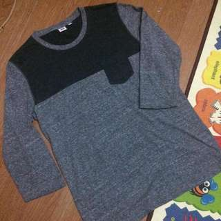 Uniqlo Pocket Raglan Two Tone