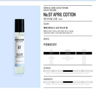 W.DRESSROOM NEW YORK PERFUME NO. 97 APRIL COTTON