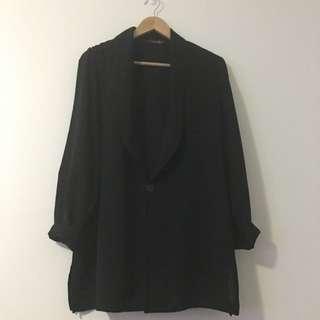 Women's Size 14 Vintage Black Jacket